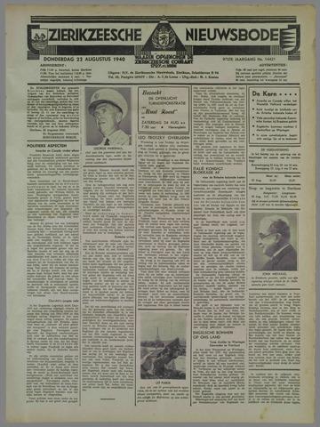 Zierikzeesche Nieuwsbode 1940-08-22