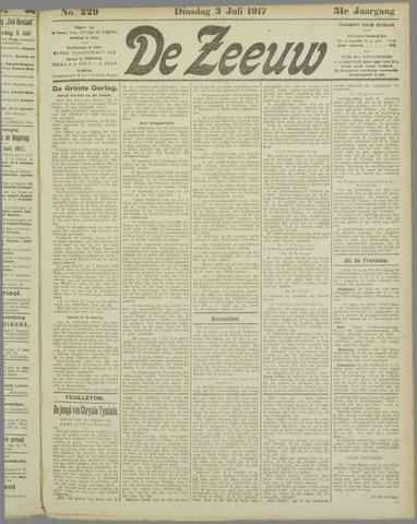 De Zeeuw. Christelijk-historisch nieuwsblad voor Zeeland 1917-07-03