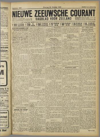 Nieuwe Zeeuwsche Courant 1922-10-24