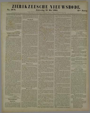 Zierikzeesche Nieuwsbode 1885-05-16