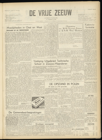 de Vrije Zeeuw 1956-06-30