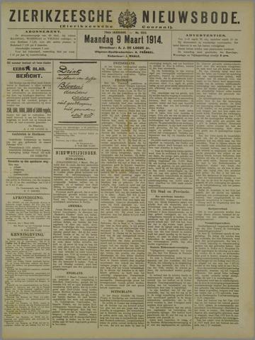 Zierikzeesche Nieuwsbode 1914-03-09