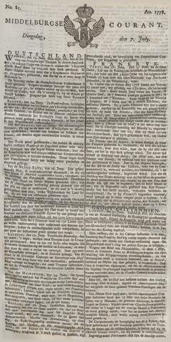 Middelburgsche Courant 1778-07-07