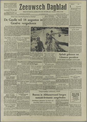 Zeeuwsch Dagblad 1958-08-01