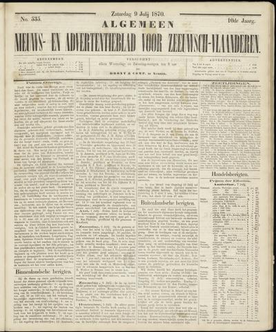 Ter Neuzensche Courant. Algemeen Nieuws- en Advertentieblad voor Zeeuwsch-Vlaanderen / Neuzensche Courant ... (idem) / (Algemeen) nieuws en advertentieblad voor Zeeuwsch-Vlaanderen 1870-07-09