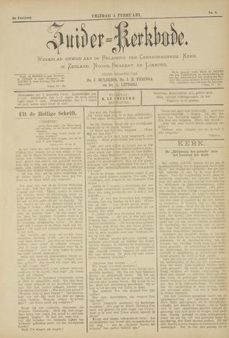 Zuider Kerkbode, Weekblad gewijd aan de belangen der gereformeerde kerken in Zeeland, Noord-Brabant en Limburg. 1897-02-05