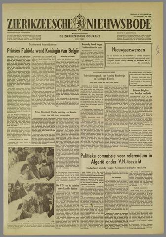 Zierikzeesche Nieuwsbode 1960-12-16