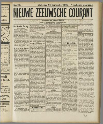 Nieuwe Zeeuwsche Courant 1918-09-28