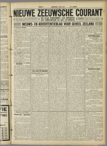 Nieuwe Zeeuwsche Courant 1927-04-07