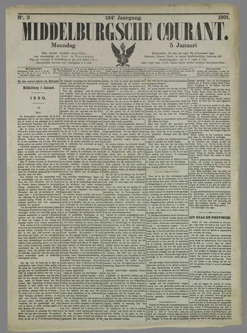 Middelburgsche Courant 1891-01-05