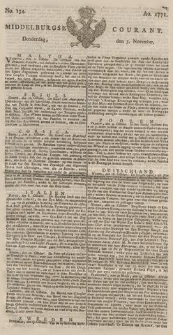 Middelburgsche Courant 1771-11-07