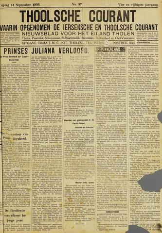 Ierseksche en Thoolsche Courant 1936-09-11