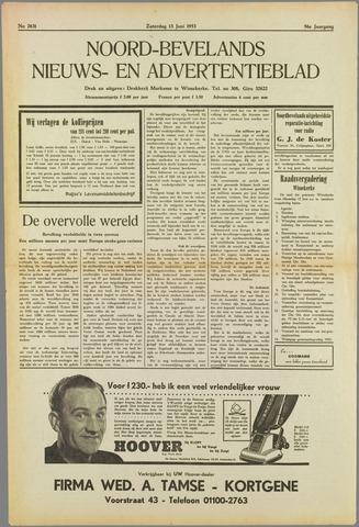 Noord-Bevelands Nieuws- en advertentieblad 1953-06-13