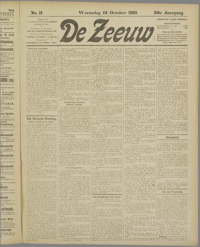 De Zeeuw. Christelijk-historisch nieuwsblad voor Zeeland 1915-10-13