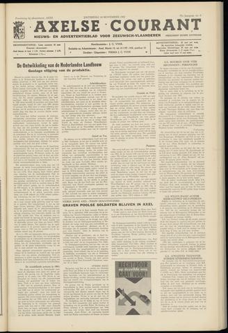 Axelsche Courant 1962-11-10