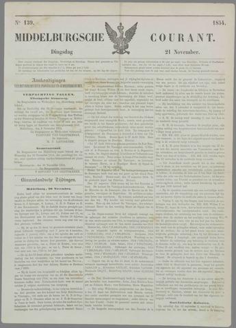 Middelburgsche Courant 1854-11-21