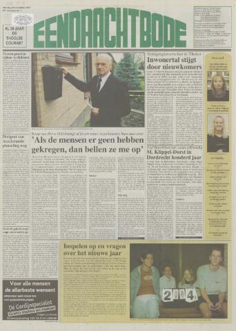 Eendrachtbode (1945-heden)/Mededeelingenblad voor het eiland Tholen (1944/45) 2003-12-30