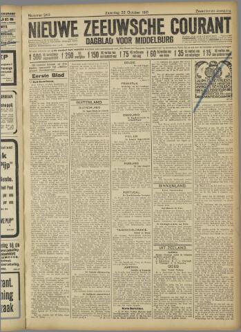 Nieuwe Zeeuwsche Courant 1921-10-22