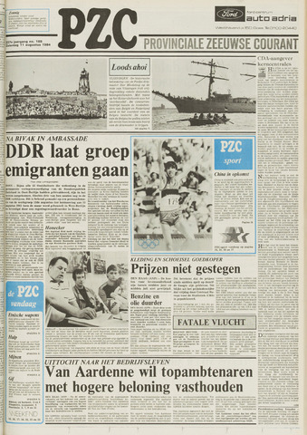 Provinciale Zeeuwse Courant 1984-08-11