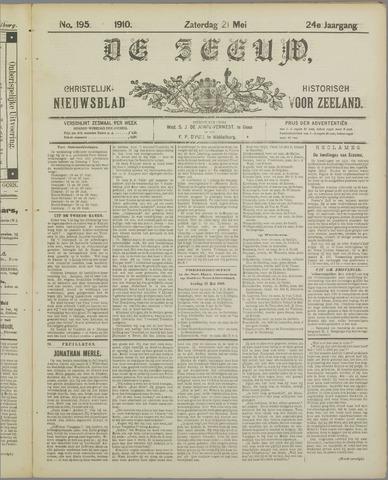 De Zeeuw. Christelijk-historisch nieuwsblad voor Zeeland 1910-05-21