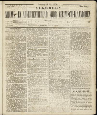 Ter Neuzensche Courant. Algemeen Nieuws- en Advertentieblad voor Zeeuwsch-Vlaanderen / Neuzensche Courant ... (idem) / (Algemeen) nieuws en advertentieblad voor Zeeuwsch-Vlaanderen 1870-07-16