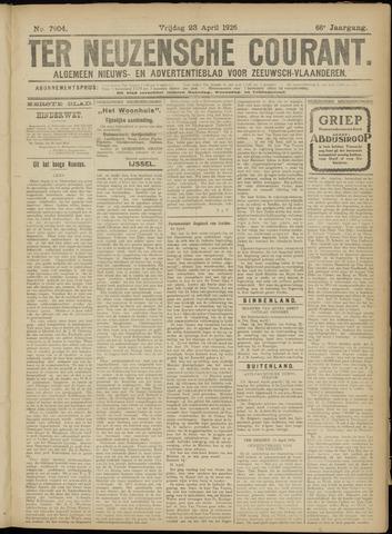 Ter Neuzensche Courant. Algemeen Nieuws- en Advertentieblad voor Zeeuwsch-Vlaanderen / Neuzensche Courant ... (idem) / (Algemeen) nieuws en advertentieblad voor Zeeuwsch-Vlaanderen 1926-04-23