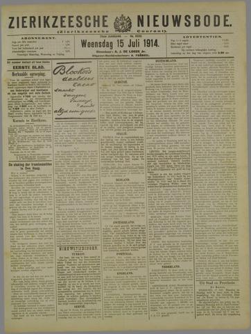 Zierikzeesche Nieuwsbode 1914-07-15