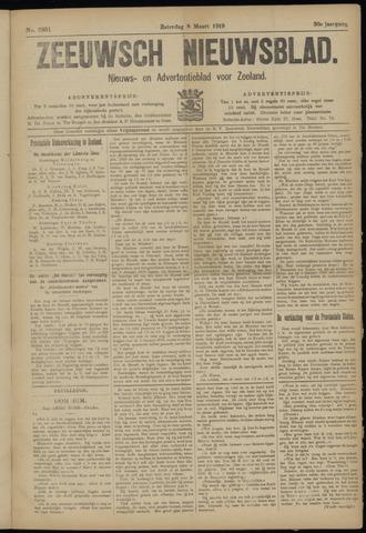 Ter Neuzensch Volksblad. Vrijzinnig nieuws- en advertentieblad voor Zeeuwsch- Vlaanderen / Zeeuwsch Nieuwsblad. Nieuws- en advertentieblad voor Zeeland 1919-03-08