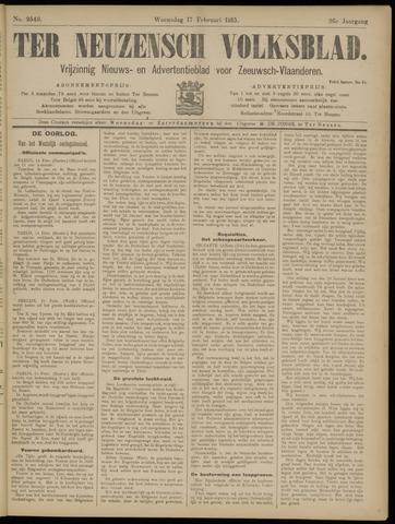 Ter Neuzensch Volksblad. Vrijzinnig nieuws- en advertentieblad voor Zeeuwsch- Vlaanderen / Zeeuwsch Nieuwsblad. Nieuws- en advertentieblad voor Zeeland 1915-02-17