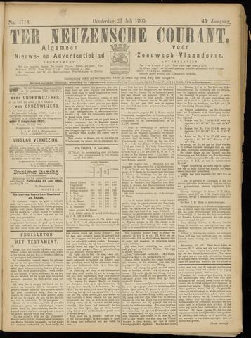 Ter Neuzensche Courant. Algemeen Nieuws- en Advertentieblad voor Zeeuwsch-Vlaanderen / Neuzensche Courant ... (idem) / (Algemeen) nieuws en advertentieblad voor Zeeuwsch-Vlaanderen 1905-07-20