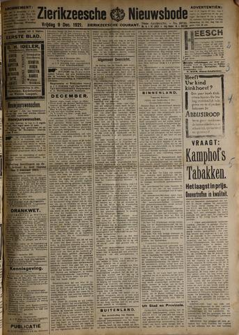 Zierikzeesche Nieuwsbode 1921-12-09