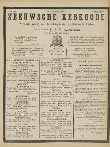 Zeeuwsche kerkbode, weekblad gewijd aan de belangen der gereformeerde kerken/ Zeeuwsch kerkblad 1890-11-29
