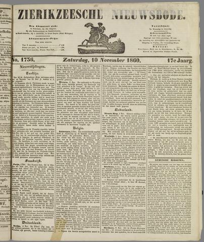 Zierikzeesche Nieuwsbode 1860-11-10
