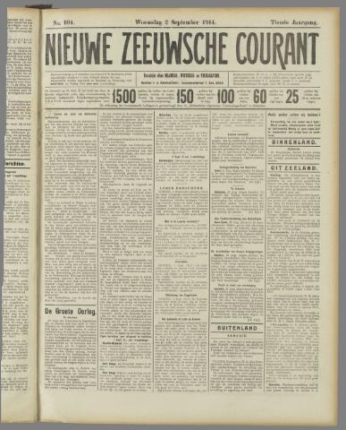 Nieuwe Zeeuwsche Courant 1914-09-02