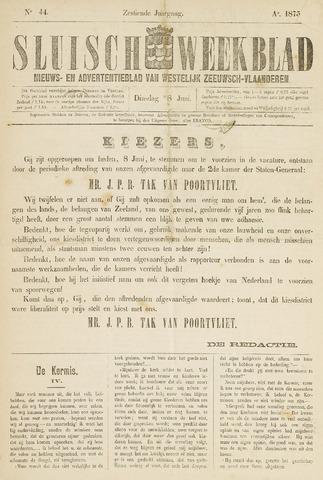 Sluisch Weekblad. Nieuws- en advertentieblad voor Westelijk Zeeuwsch-Vlaanderen 1875-06-08