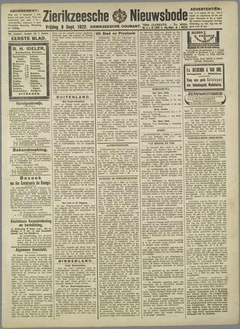 Zierikzeesche Nieuwsbode 1922-09-08