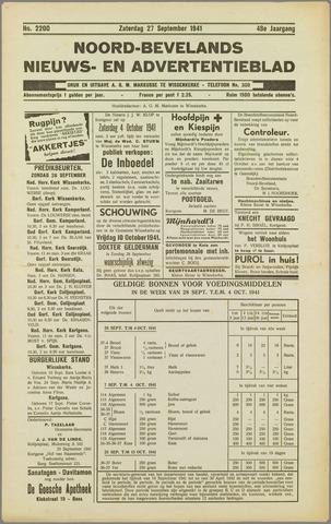 Noord-Bevelands Nieuws- en advertentieblad 1941-09-27