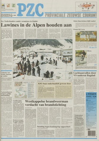 Provinciale Zeeuwse Courant 1999-02-25