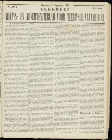 Ter Neuzensche Courant. Algemeen Nieuws- en Advertentieblad voor Zeeuwsch-Vlaanderen / Neuzensche Courant ... (idem) / (Algemeen) nieuws en advertentieblad voor Zeeuwsch-Vlaanderen 1875-09-08