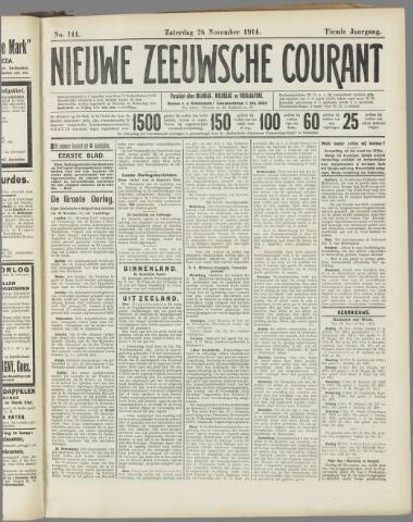 Nieuwe Zeeuwsche Courant 1914-11-28