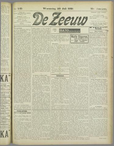 De Zeeuw. Christelijk-historisch nieuwsblad voor Zeeland 1921-07-20