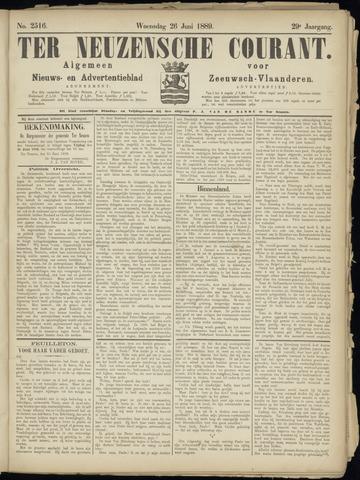 Ter Neuzensche Courant. Algemeen Nieuws- en Advertentieblad voor Zeeuwsch-Vlaanderen / Neuzensche Courant ... (idem) / (Algemeen) nieuws en advertentieblad voor Zeeuwsch-Vlaanderen 1889-06-26