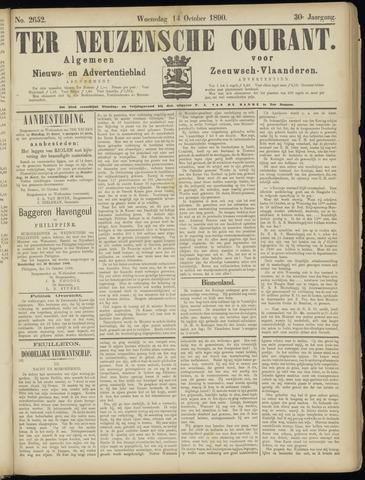 Ter Neuzensche Courant. Algemeen Nieuws- en Advertentieblad voor Zeeuwsch-Vlaanderen / Neuzensche Courant ... (idem) / (Algemeen) nieuws en advertentieblad voor Zeeuwsch-Vlaanderen 1890-10-15