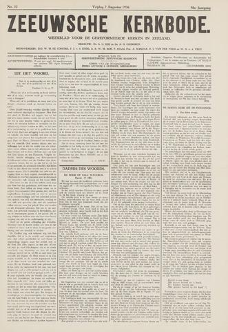 Zeeuwsche kerkbode, weekblad gewijd aan de belangen der gereformeerde kerken/ Zeeuwsch kerkblad 1936-08-07
