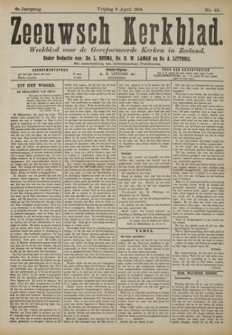 Zeeuwsche kerkbode, weekblad gewijd aan de belangen der gereformeerde kerken/ Zeeuwsch kerkblad 1909-04-09