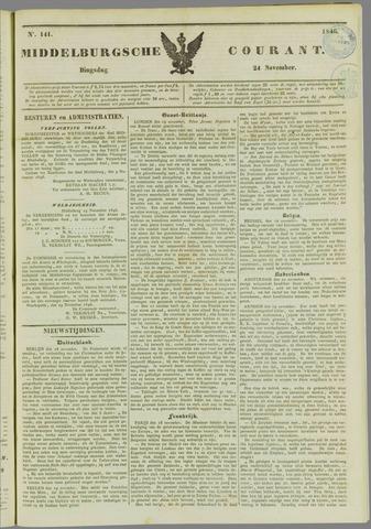 Middelburgsche Courant 1846-11-24