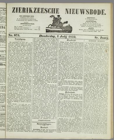 Zierikzeesche Nieuwsbode 1852-07-01