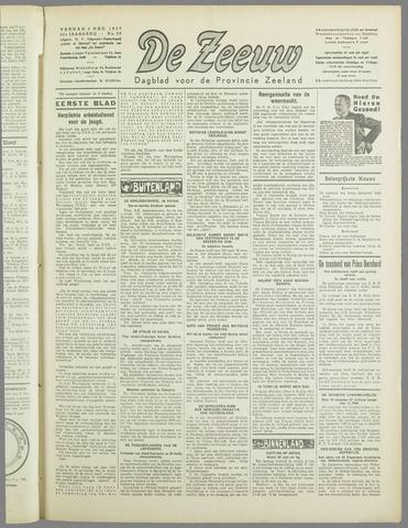 De Zeeuw. Christelijk-historisch nieuwsblad voor Zeeland 1937-12-03