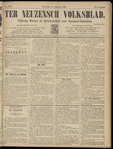 Ter Neuzensch Volksblad. Vrijzinnig nieuws- en advertentieblad voor Zeeuwsch- Vlaanderen / Zeeuwsch Nieuwsblad. Nieuws- en advertentieblad voor Zeeland 1911-08-23