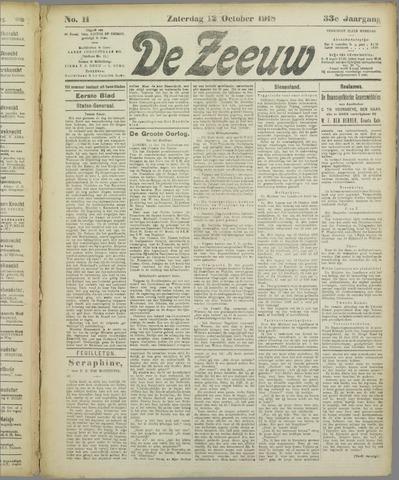 De Zeeuw. Christelijk-historisch nieuwsblad voor Zeeland 1918-10-12